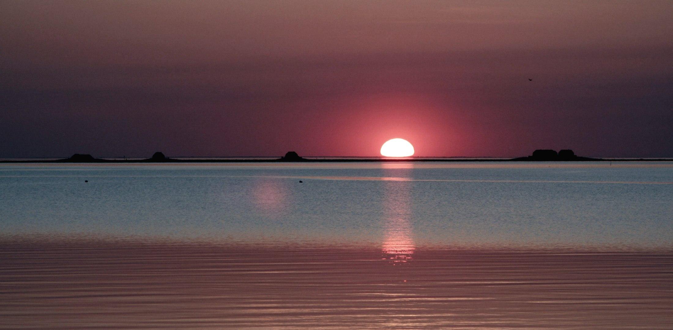 Sonne geht, © Nordstrand Tourismus