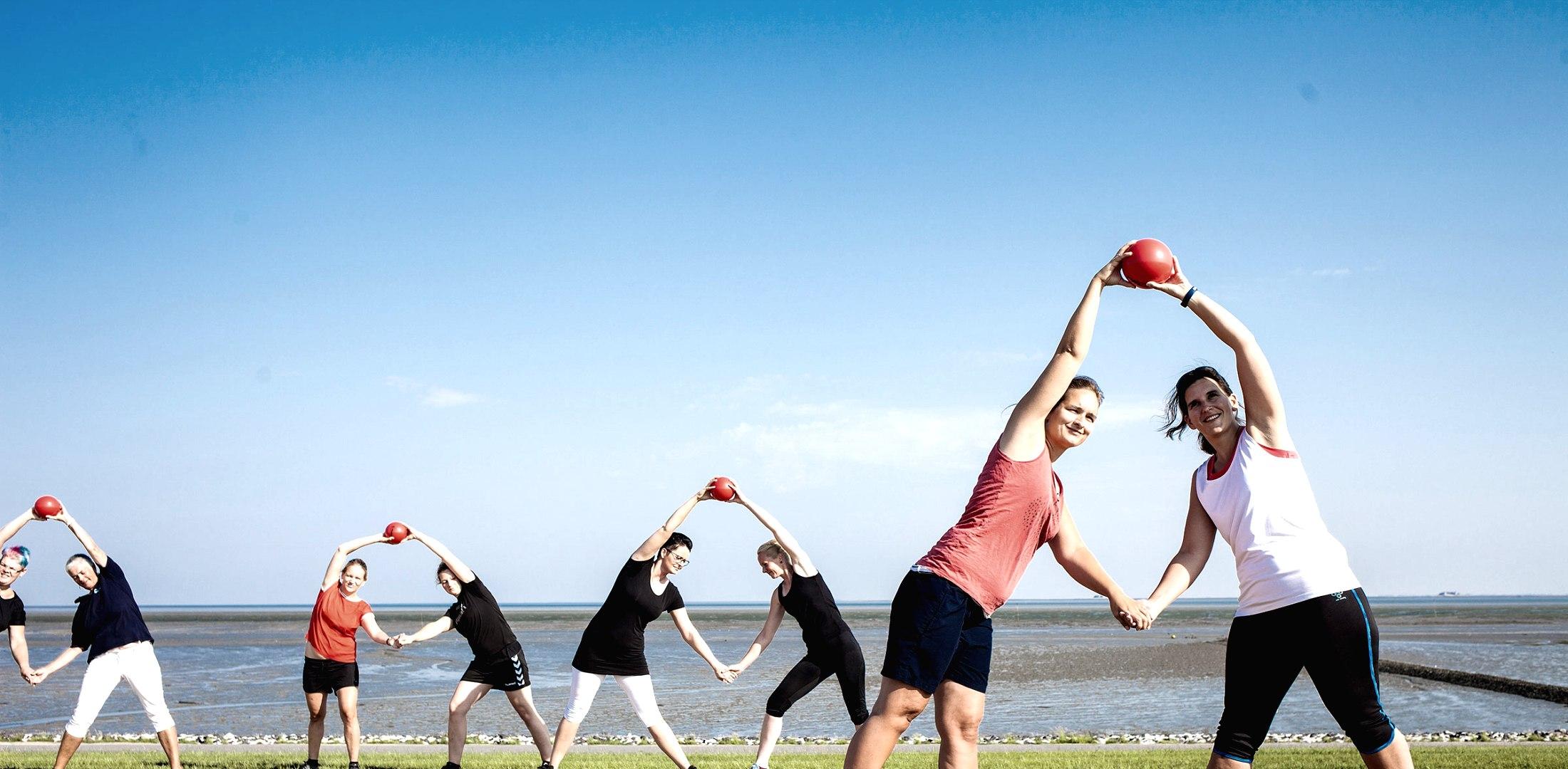 Deichgymnastik, © Nordstrand Tourismus
